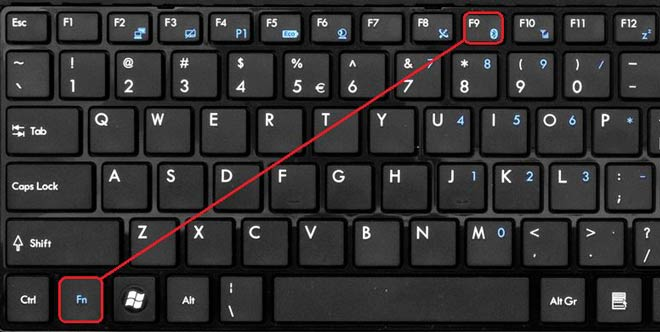 Включение блютуз на клавиатуре